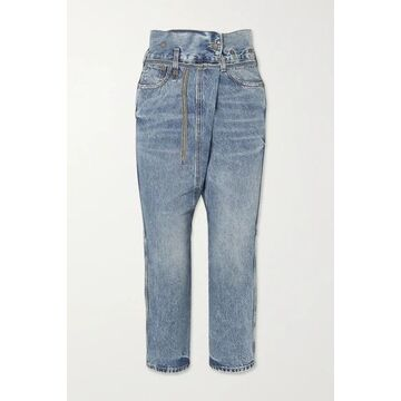 R13 - Staley Belted Boyfriend Jeans - Blue