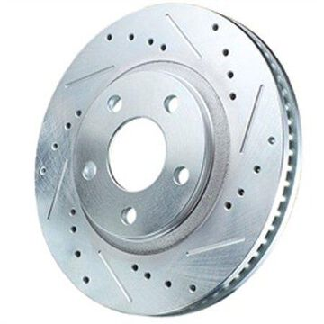 Power Stop EBR613XPR Evolution Drilled & Slotted Rotors -Front