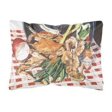 Crab Boil Decorative Canvas Fabric Pillow