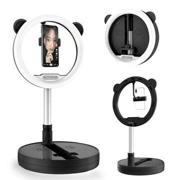 10-inch 128-LED Bright Ring Light - USB Powered w/ Temp & Brightness Adjustment, Portable Design