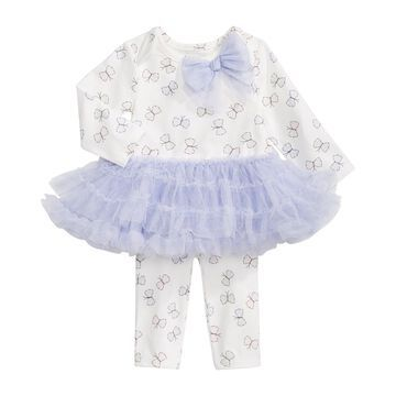 Baby Girls Butterfly Tulle Dress Set, Created for Macy's