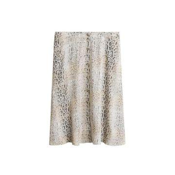 Violeta BY MANGO - Snake print skirt ecru - XL - Plus sizes