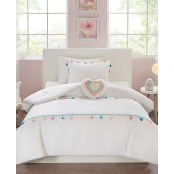 Mi Zone Kids Tessa Full/Queen 4 Piece Tassel Comforter Set Bedding