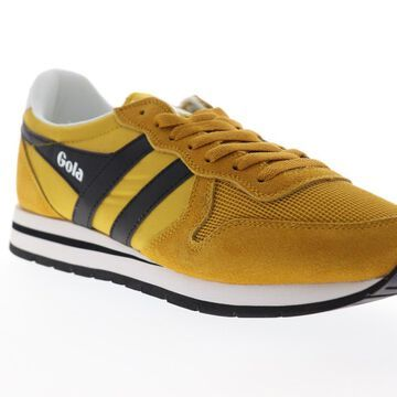 Gola Daytona Mens Yellow Mesh Suede Lace Up Low Top Sneakers Shoes