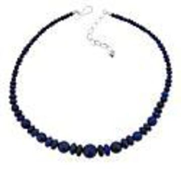Mine Finds by Jay King Sterling Silver Lapis Bead Graduated Necklace