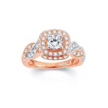 Modern Bride Signature 1 CT. T.W. Diamond 14K Rose Gold Infinity Ring