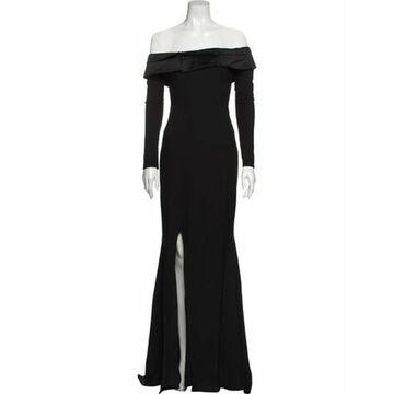 Off-The-Shoulder Long Dress Black