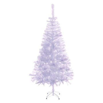 Aleko Artificial Christmas Tree, White, 5.9'
