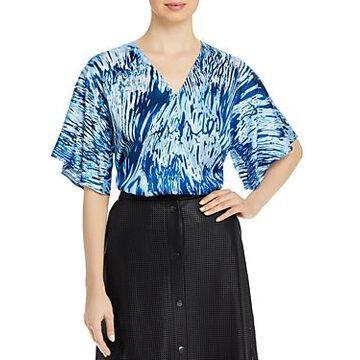 Boss Iwendi Printed Jersey Short Sleeve Top