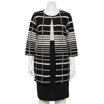 Plus Size Danny & Nicole 2-piece Long Jacket & Dress Set, Women's, Size: 14 W, Multicolor