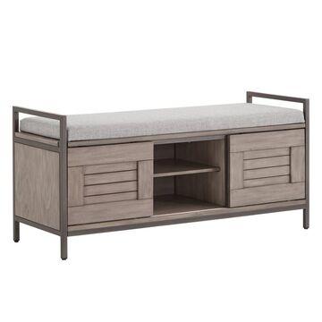 Valeria Storage Bench with Cushion Gray - Inspire Q