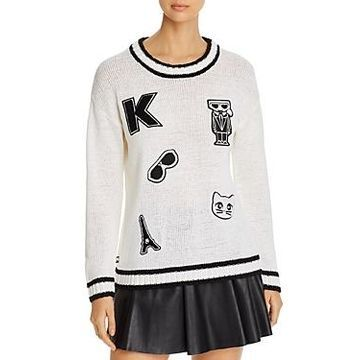 Karl Lagerfeld Paris Patches Sweater