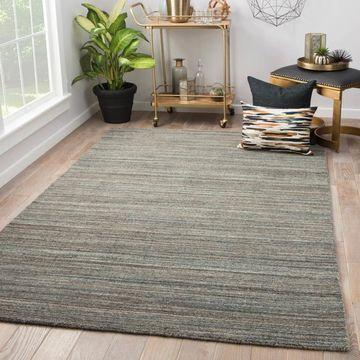 Hadrian Grey Wool Handmade Solid Area Rug (8' x 11') - 7'10