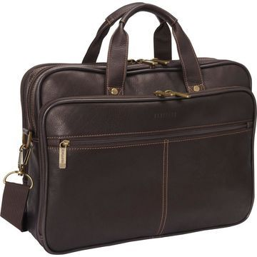 Heritage Colombian Leather Double Compartment Laptop Bag