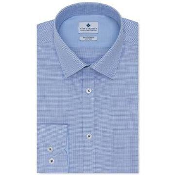 Ryan Seacrest Distinction Men's Ultimate Slim-Fit Non-Iron Performance Stretch Medium Blue Dobby Dress Shirt, Created For Macy's