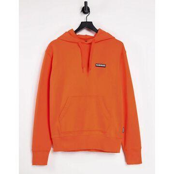 Napapijri Patch hoodie in orange