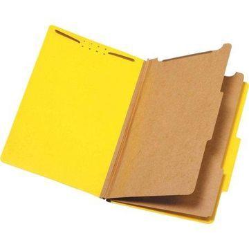 Pendaflex, PFX29034P, 2-Divider Pressboard Classification Folders, 10 / Box, Yellow