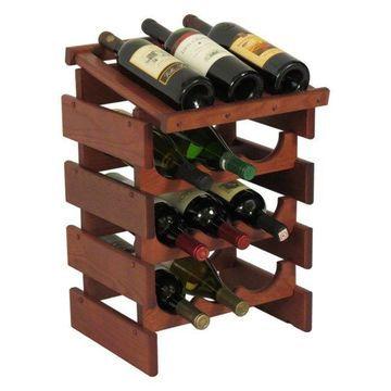 Wooden Mallet 12-Bottle Dakota Wine Rack With Display Top
