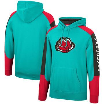 Men's Mitchell & Ness Turquoise Vancouver Grizzlies Hardwood Classics Fusion Pullover Hoodie