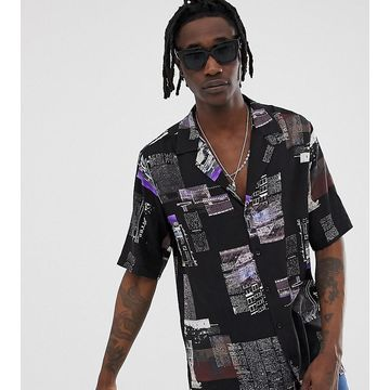 Reclaimed Vintage inspired photographic newspaper print shirt
