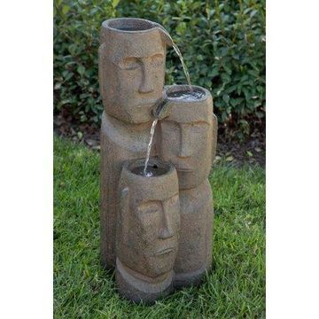 Alpine Tiki Trio God 2 Tiered Fountain, 28 Inch Tall