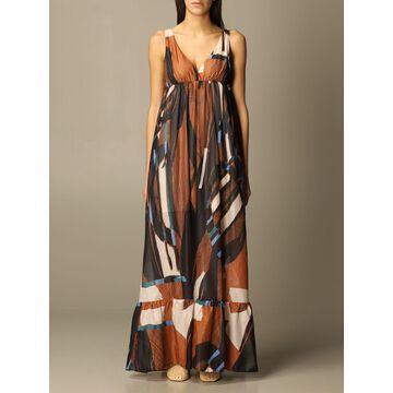 Manila Grace patterned long dress