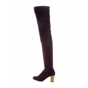 Embossed Boots Purple