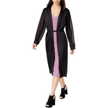 Kensie Womens 1597 Black Belted Blazer Jacket