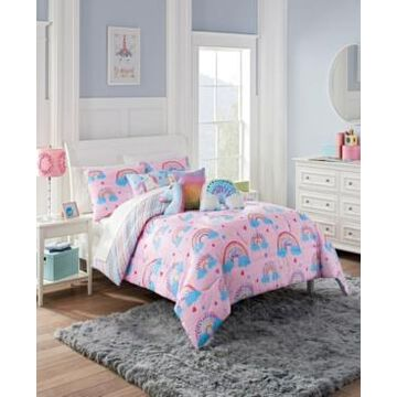 Waverly Spree Over The Rainbow Reversible Full Comforter Set, 3 Piece Bedding
