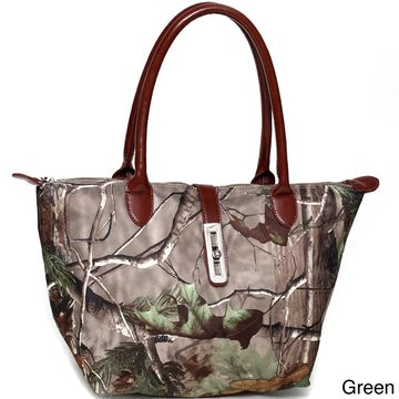 Realtree Camouflage Tote Bag with Twist Lock Accent