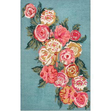 nuLoom Rose Bouquet AHPE01B Mist 5' x 8' Area Rug