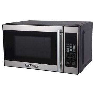 BLACK+DECKER 0.7 cu ft 700W Microwave Oven - Black EM720CPN-P