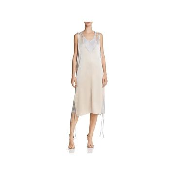 T by Alexander Wang Womens Slip Dress Satin Heavy Drape - 2