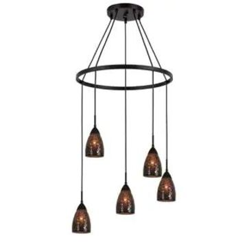 Woodbridge Lighting 13228MEB-M20 Venezia 5-light Pendant Chandelier