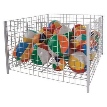 48 in. Square White Wire Grid Dump Bin (Pack of 1)