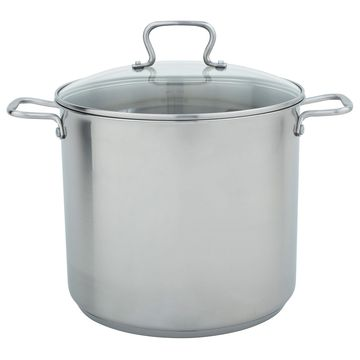 16qt Stainless Steel Stock Pot with Lid