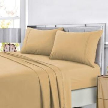 Tribeca Living Super Soft Solid Dp Easy-Care Extra Deep Pocket Cal King Sheet Set Bedding