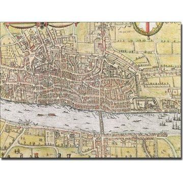 Trademark Art 'Map of London, 1572' Canvas Art