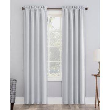 "Sun Zero Preston Energy Saving Blackout Rod Pocket Curtain Panel, 84"" L x 40"" W"