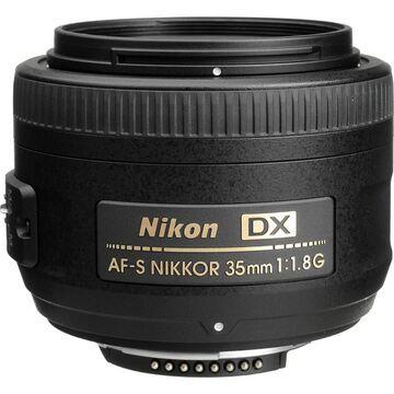 Nikon AF-S DX NIKKOR 35mm f/1.8G Lens (Open Box) (Black)