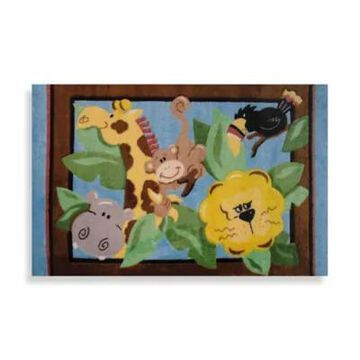 Fun Rugs In The Jungle 3-Foot 3-Inch X 4-Foot 10-Inch Area Rug