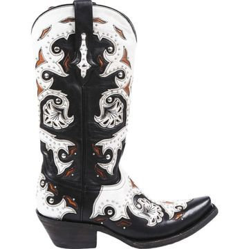 Lucchese Black Leather Boots