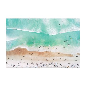 Noir Gallery Aerial Beach Waves Photography Unframed Art Print/Poster