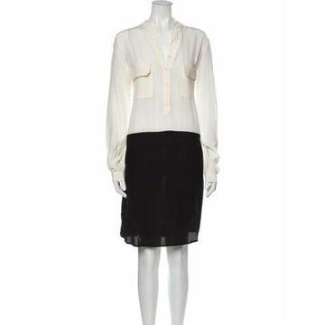 Msgm Silk Knee-Length Dress Msgm Silk Knee-Length Dress