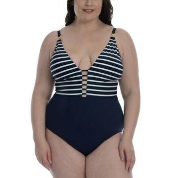 La Blanca Plus Size Capri Tummy-Control One-Piece Swimsuit Women's Swimsuit