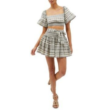 Minkpink Tidal Cotton Mini Skirt