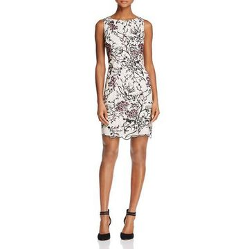 Aidan Mattox Womens Lace Party Cocktail Dress