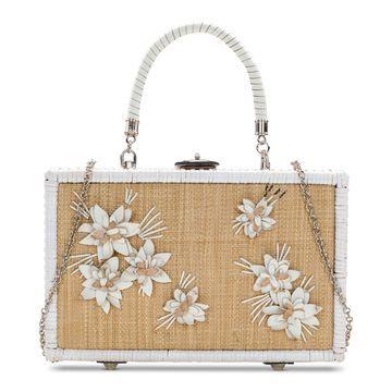 Wicker Lamezia Box Bag