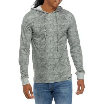 Ocean Current Men's Allover Print Hooded T-Shirt - -