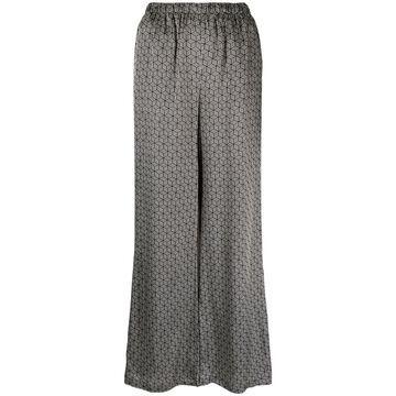 geometric-print wide-leg trousers